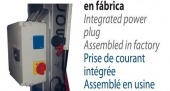 Enchufe eléctrico integrado (en fabrica)